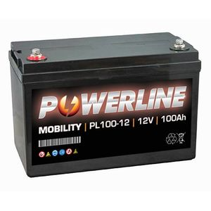 PL100-12 Powerline Mobility Battery 12V 100Ah