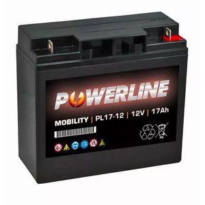 PL17-12 Powerline Mobility Battery 12V 17Ah
