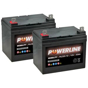Pair of Powerline PLC33-12 Mobility Batteries