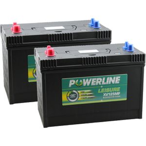 Pair of XV125MF Powerline Leisure Battery 12V