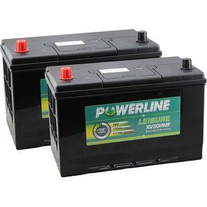 Pair of XV30HMF Powerline Leisure Battery 12V