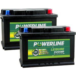 Pair of XV94MF Powerline Leisure Battery 12V