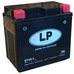 GTX5-3 Landport Gel Motorcycle Battery YTX5L-BS