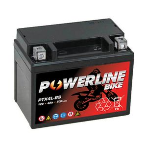 PTX4L-BS Powerline Motorcycle Battery 12V 4Ah
