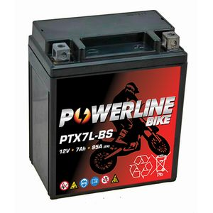 PTX7L-BS Powerline Motorcycle Battery 12V 7Ah