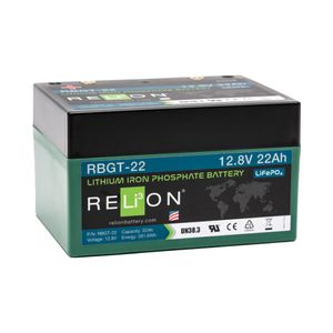 Relion RBGT-22 Lithium Golf Battery 12V 22Ah