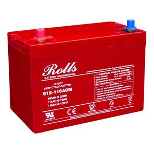 Rolls S12-116AGM Deep Cycle Series 12 Volt Battery