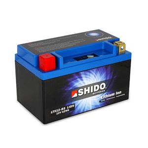 YTX12-BS Shido Lithium Motorcycle Battery LiFePO4 LTX12-BS