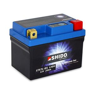 YTX7L-BS Shido Lithium Motorcycle Battery LiFePO4 LTX7L-BS