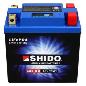 YB9-B Shido Lithium Motorcycle Battery LiFePO4 LB9-B Q