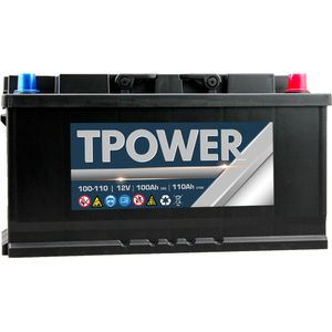 100Ah Leisure Battery by TPower 100Ah C20 / 110Ah C100
