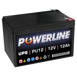 PU12 Powerline UPS Battery 12Ah