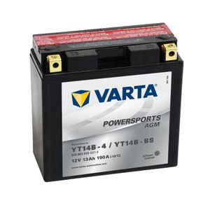 YT14B-BS Varta Powersports AGM Motorcycle Battery 512 903 013 12V 12Ah