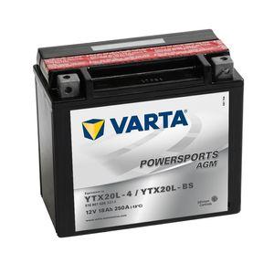 518 901 026 Varta Powersports AGM Batterie De Moto - Remplace YTX20L-BS