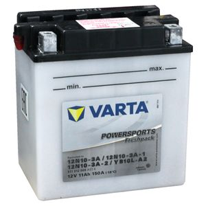 YB10L-A2 Varta Powersports Freshpack Motorcycle Battery 511 012 009 (12N10-3A-2, 12N10-3A)
