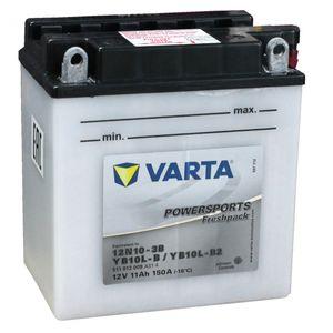 YB10L-B2 Varta Powersports Freshpack Motorcycle Battery 511 013 (YB10L-B2, 12N10-3B)
