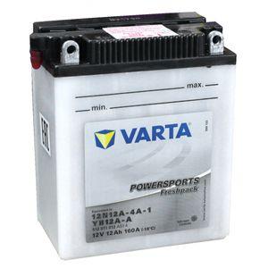 YB12A-A Varta Powersports Freshpack Batterie De Moto 512 011 012 (12N12A-4A-1)