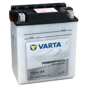 YB14-A2 Varta Powersports Freshpack Batterie De Moto 514 012 014
