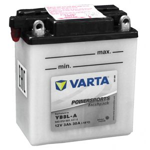 YB3L-A Varta Powersports Freshpack Motorcycle Battery 503 012 001