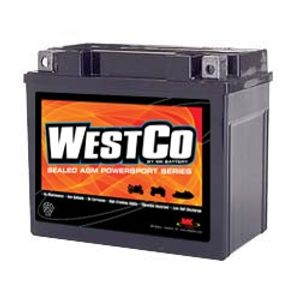 12V12-B Westco Motorcycle Battery 12V 10Ah - Replaces YTX12-BS