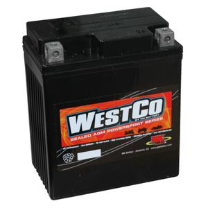 12V7L-B Westco Motorcycle Battery 12V 7Ah - Replaces YTX7L-BS