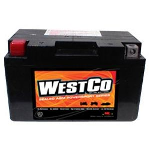 12VZ10S Westco Motorcycle Battery 12V - Replaces YTZ10S