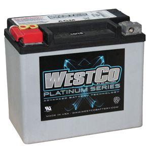 WCP12 Westco Platinum Batterie De Moto 12V 10Ah (SVR12)