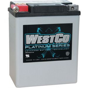 WCP15 Westco Platinum AGM Motorcycle Battery 12V 14Ah YB14-A2 (SVR15)