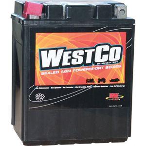 YB14-A2 / YB14-B2 / 12V14-A2 Westco Motorcycle Battery 12V 14Ah - Replaces YTX14AH-BS