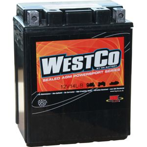 YB14L-A2 / 12V14L-B / 12N14-3A Westco Motorcycle Battery 12V 12Ah  - Replaces YTX14AHL-BS