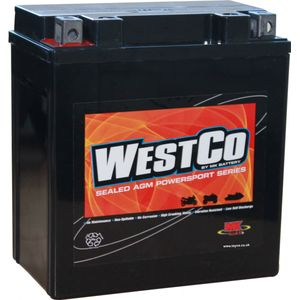 12V16-A2 Westco Motorcycle Battery 12V 14Ah - Replaces YTX16-BS