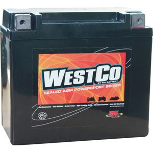 12V20L Westco Motorcycle Battery 12V 18Ah - Replaces YTX20L-BS