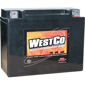 12V22 Westco Motorcycle Battery 12V 22Ah - Replaces YTX24HL