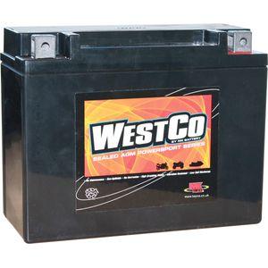 12V22 Westco Batterie De Moto 12V 22Ah - Remplace YTX24HL