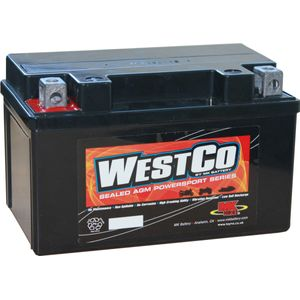 12V7A-BS Westco Motorcycle Battery 12V 7Ah - Replaces YTX7A-BS