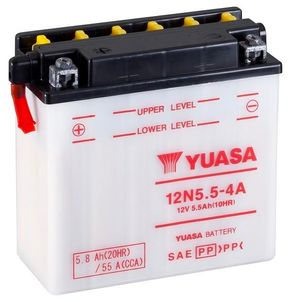 12N5.5-4A Yuasa Motorcycle Battery 12V 5.5Ah 55A