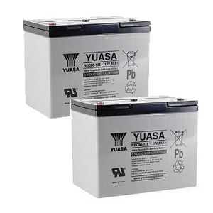 Pair of Yuasa REC80-12 12V 80Ah High Performance Heavy Duty Cyclic Mobility Battery