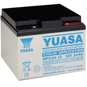 Yuasa NPC24-12 Golf Battery with Torberry Lead