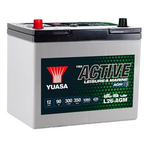L26-AGM Yuasa Leisure Battery 12V 90Ah