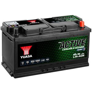 L36-AGM Yuasa Leisure Battery 12V 95Ah