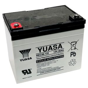 Yuasa REC36-12 Cyclic Deep Cycle Battery 12V 36Ah (YC33-12 / Y33-12 / YPC33-12)