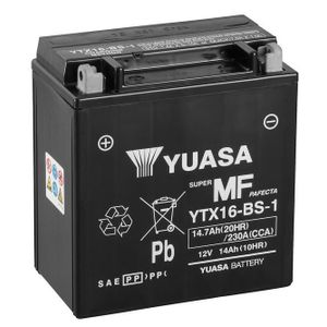 Yuasa YTX16-BS-1 MF Motorcycle Battery