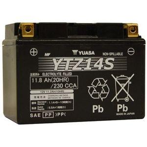 Yuasa YTZ14S High Performance MF Motorcycle Battery
