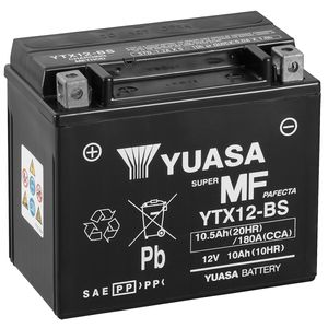 Yuasa YTX12-BS MF Motorcycle Battery