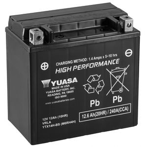 Yuasa YTX14H-BS High Performance MF Motorcycle Battery