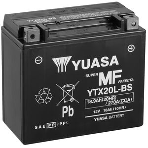Yuasa YTX20L-BS MF Motorcycle Battery