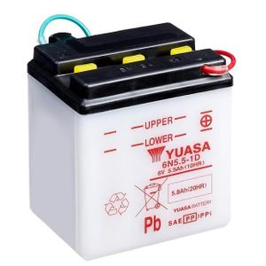 Yuasa 6N5.5-1D Motorcycle Battery 6V