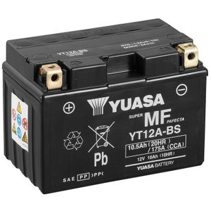 Yuasa YT12A-BS MF Motorcycle Battery