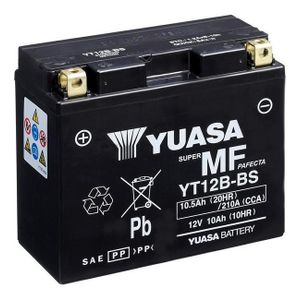 Yuasa YT12B-BS MF Motorcycle Battery