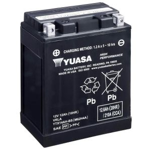 Yuasa YTX14AH-BS High Performance MF Motorcycle Battery